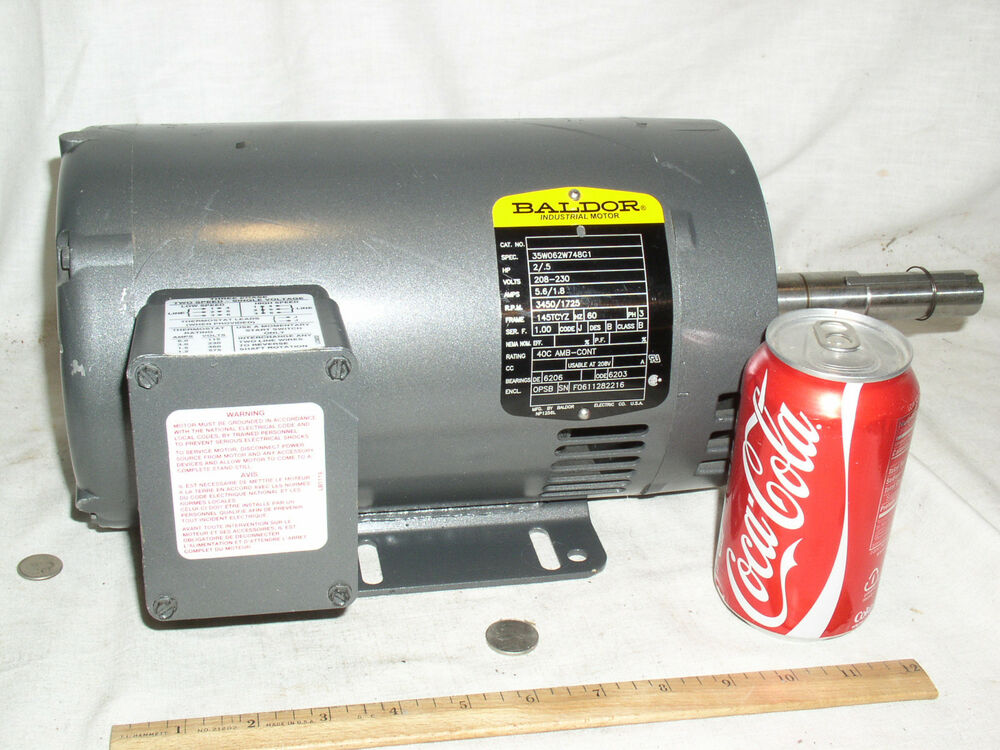 New baldor 35w062w748g1 208 230 5 2 hp two speed single for 3 phase 3hp motor