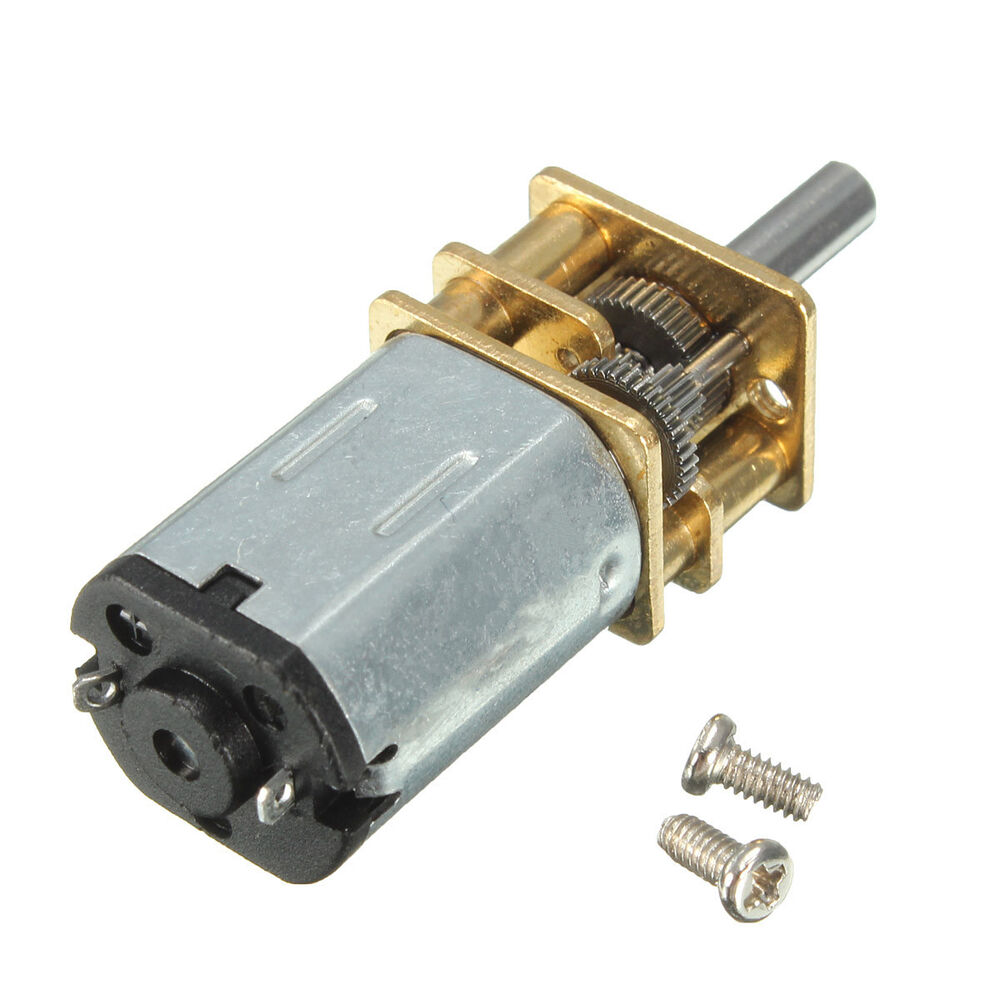Mini Metal Dc 12v 100rpm Gear Box Motor High Torque With