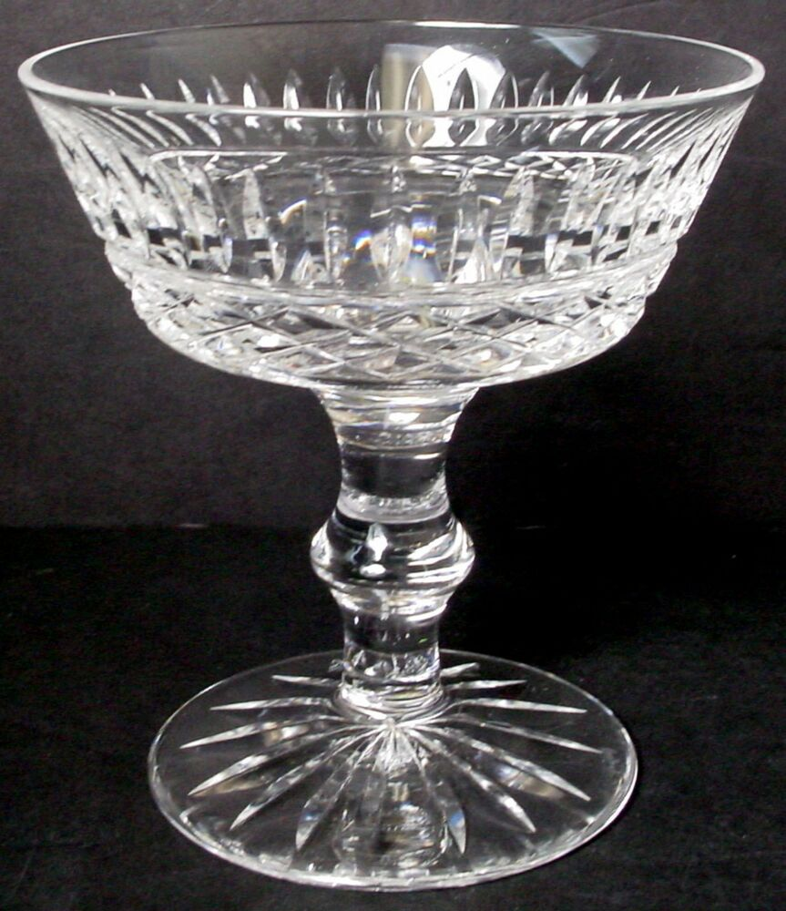 Waterford crystal tramore pattern champagne tall sherbet for Glass 2 glass