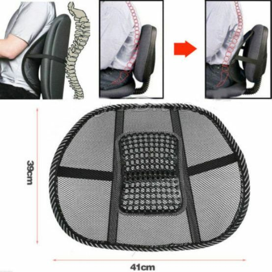 Lumbar Support Office Chair Cool Vent Cushion Mesh Fabric