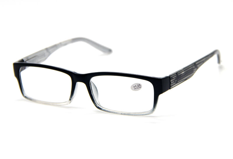 Classic Black Gradient Big Square Frame Reading Glasses ...