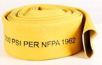 "New 3""x50' water discharge Oroflex Premium rubber covered Fire Hose-Y"