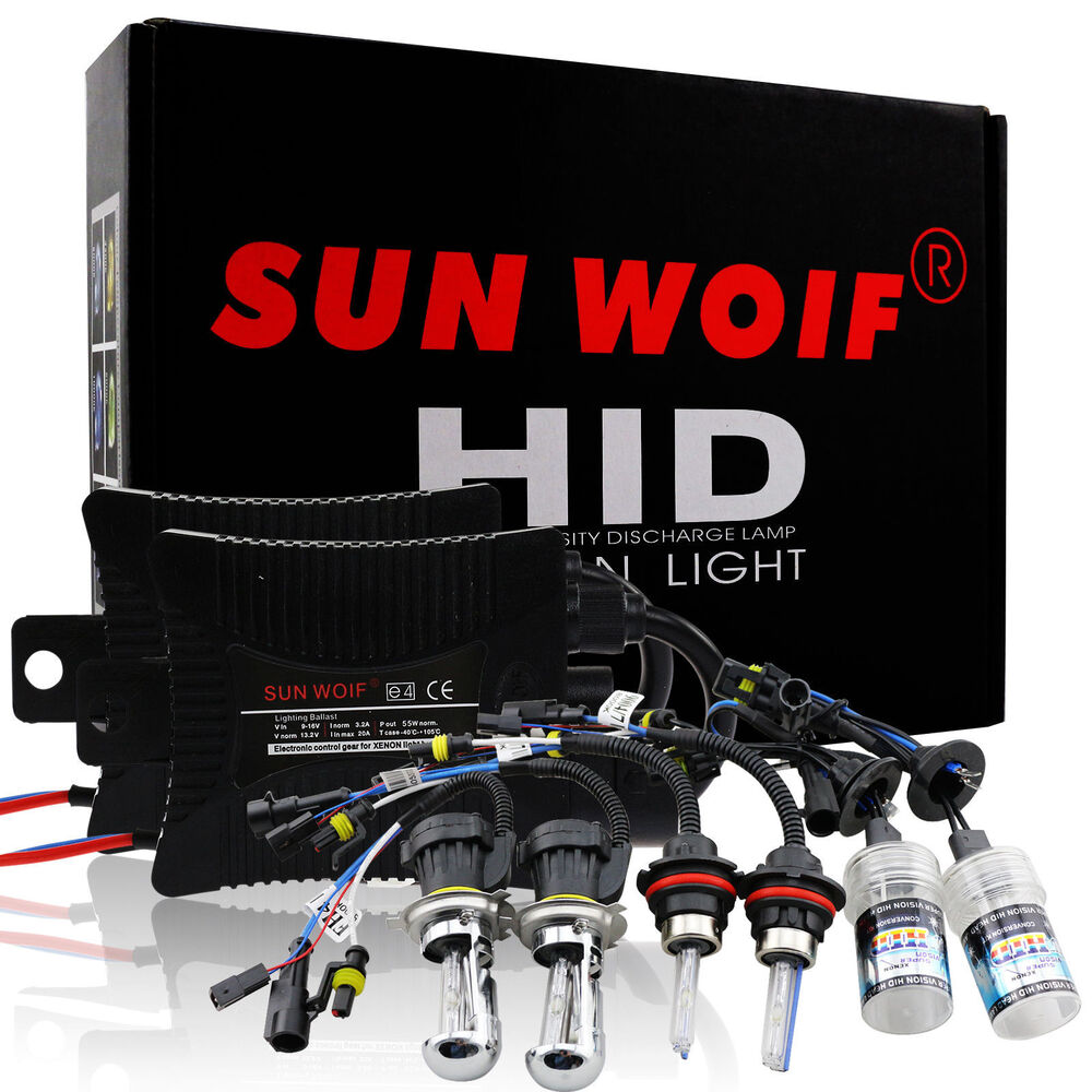 H/L Xenon HID Light Conversion KIT Bulbs Ballast H1 H3 H4 H7 H11 H13 9004  9007 | eBay