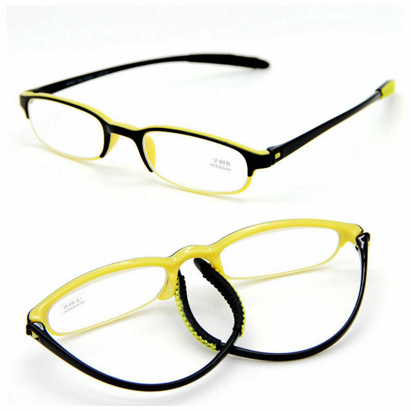 tr twist oval yellow frame reading glasses