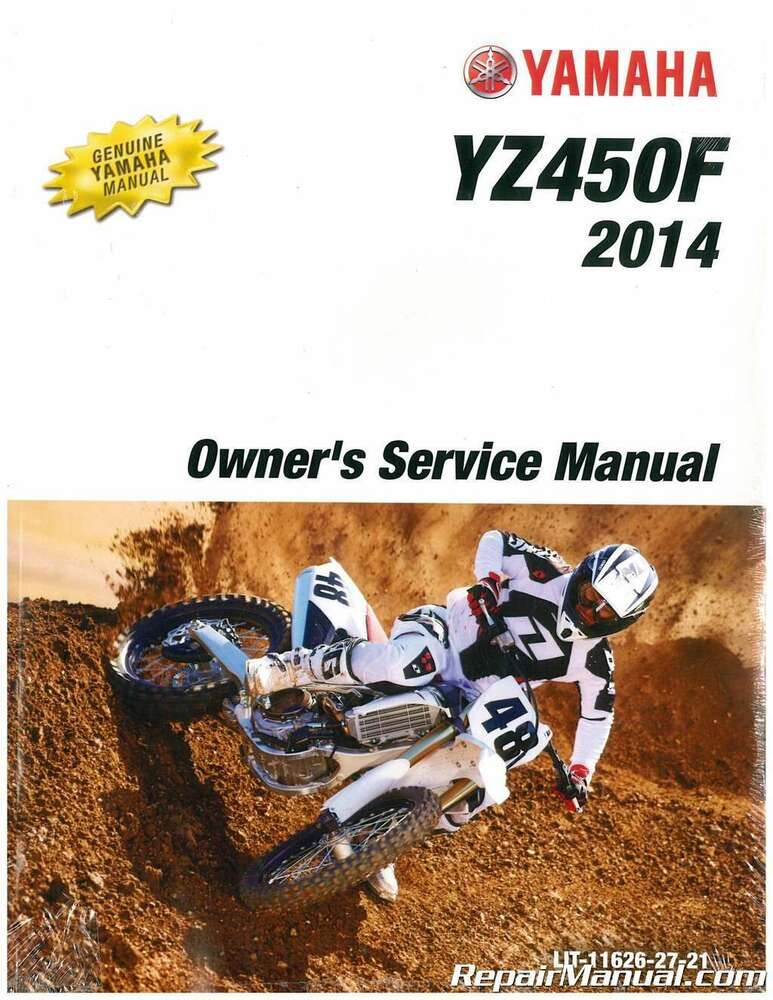 2014 yamaha yz450f motorcycle owners service manual lit. Black Bedroom Furniture Sets. Home Design Ideas