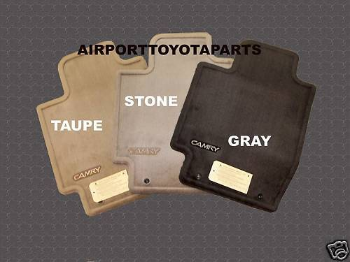 toyota camry genuine oem carpeted floor mats 2002 2006. Black Bedroom Furniture Sets. Home Design Ideas