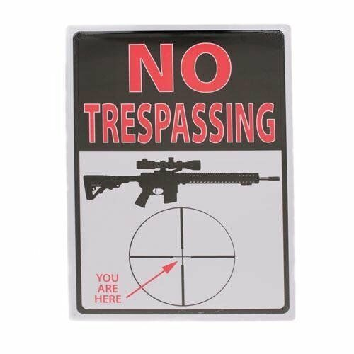 Walmart Man Cave Gifts : No trespassing rifle crosshairs quot you are here funny tin