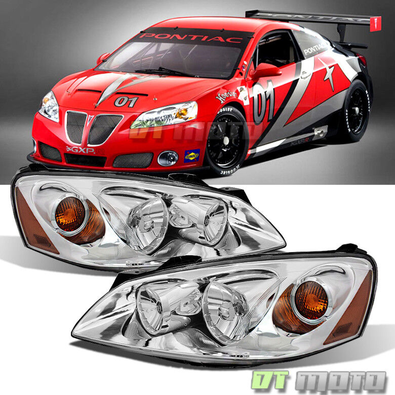 Details About 2005 2010 Pontiac G6 Headlights Headlamps Replacement 05 10 Pair Set Left Right