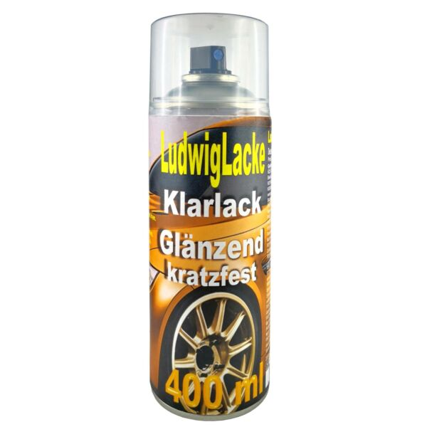 KLARLACK kratzfest 1 Spraydose  GLÄNZEND  Autolack 400ml Made in Germany