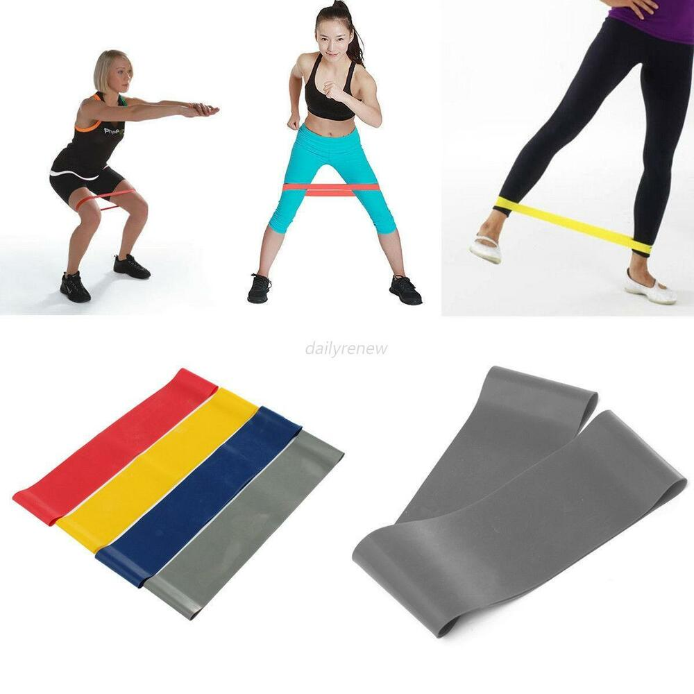 New Resistance Loop Band Exercise Strength Weight Fitness