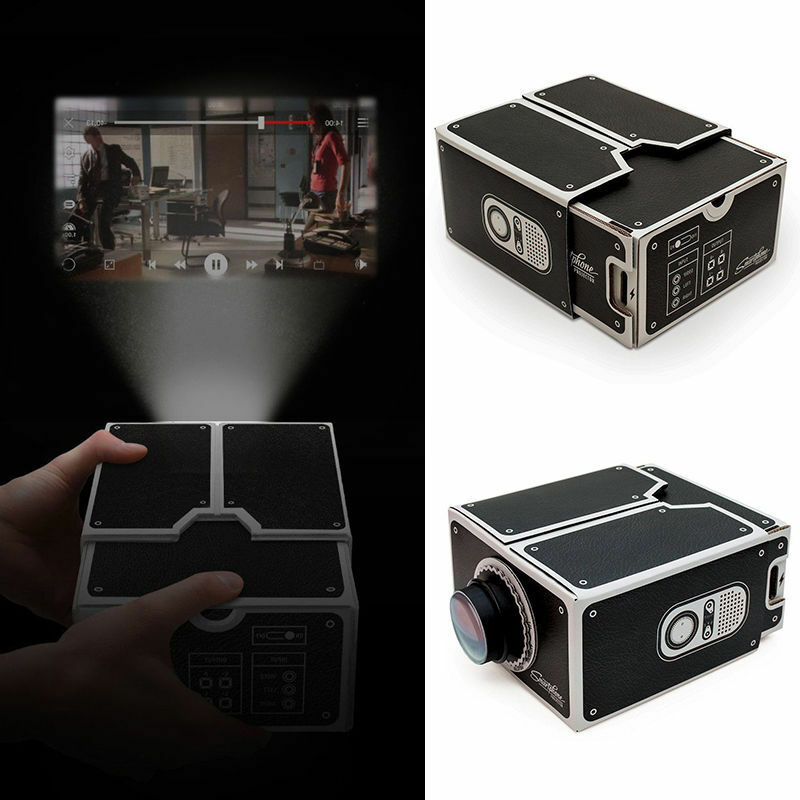 Diy mobile phone projector portable cinema cardboard for Small projector for mobile