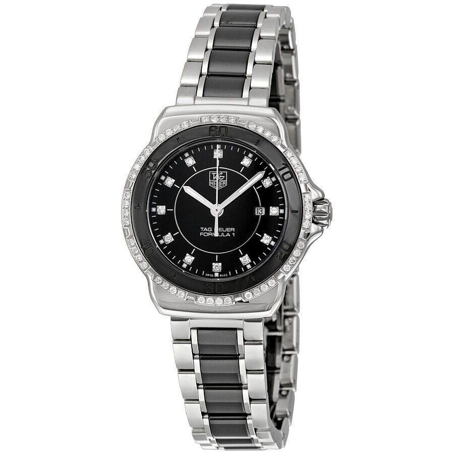 Tag heuer formula 1 black dial steel and ceramic ladies watch wah1312 ba0867 7612533096967 ebay for Tag heuer women