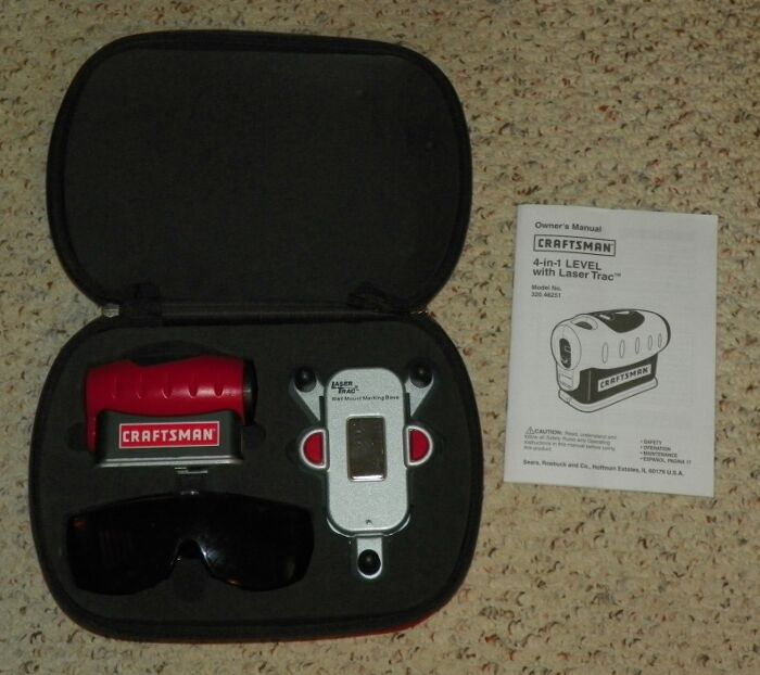 craftsman 4 in 1 laser trac level w carrying case