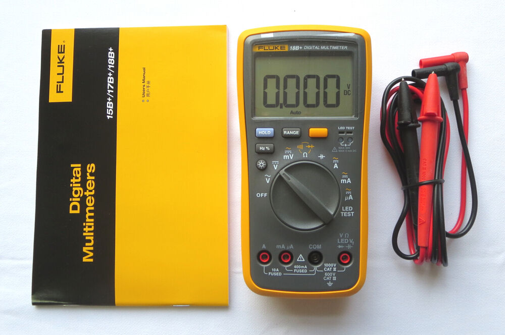 Fluke Digital Voltmeter : Fluke digital multimeter f b led tester voltmeter