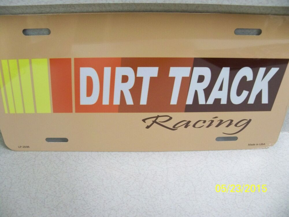 dirt track racing outlaw midget sprint metal car or truck license plate new ebay. Black Bedroom Furniture Sets. Home Design Ideas