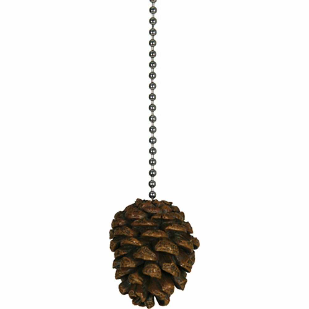 pine cone ceiling fan pull chain pinecone lamp light cabin. Black Bedroom Furniture Sets. Home Design Ideas