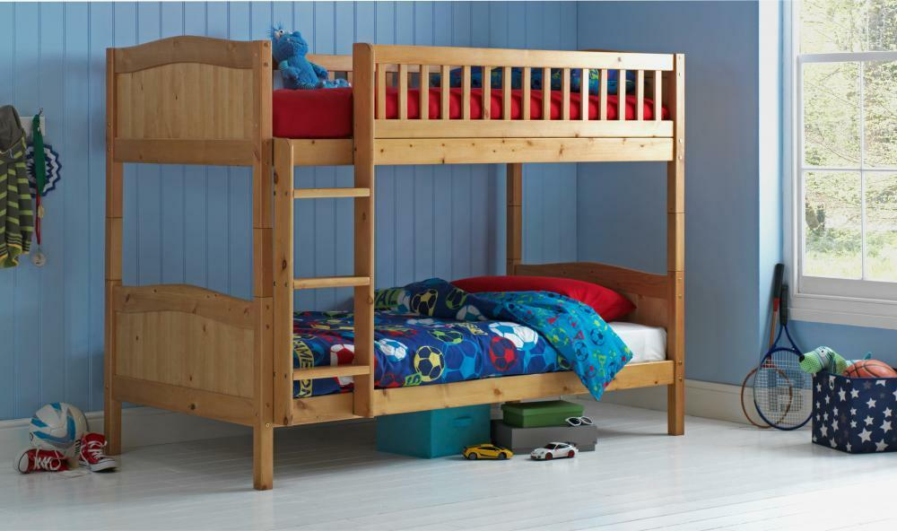 wooden bunk bed kids childrens caramel 3ft rosa with or. Black Bedroom Furniture Sets. Home Design Ideas