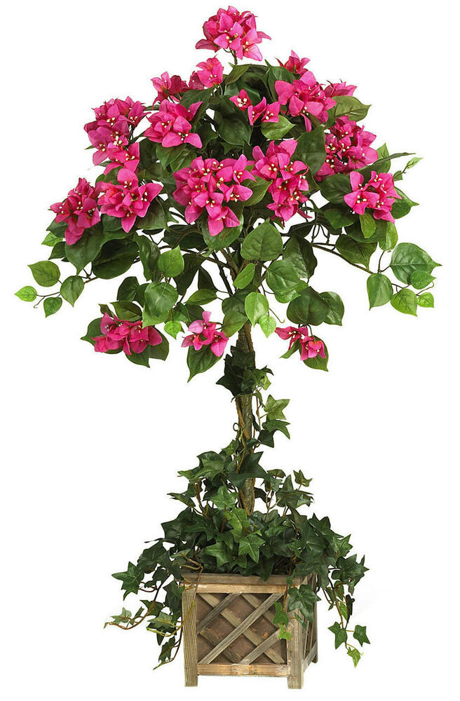 silk flower tree new 34 quot silk bougainvillea topiary tree indoor plant 2221