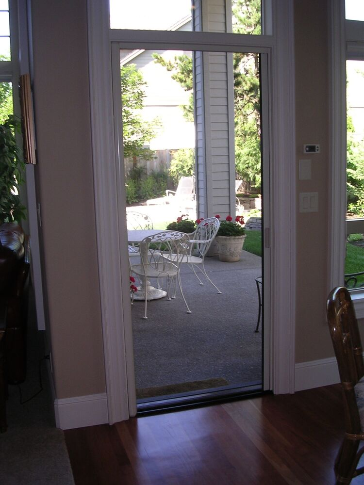 Retractable screen door fits up to 84 tall door custom for Custom sliding screen doors