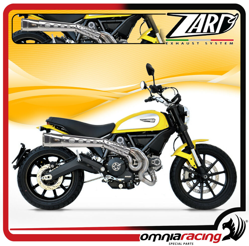 zard racing full system ducati scrambler exhaust. Black Bedroom Furniture Sets. Home Design Ideas