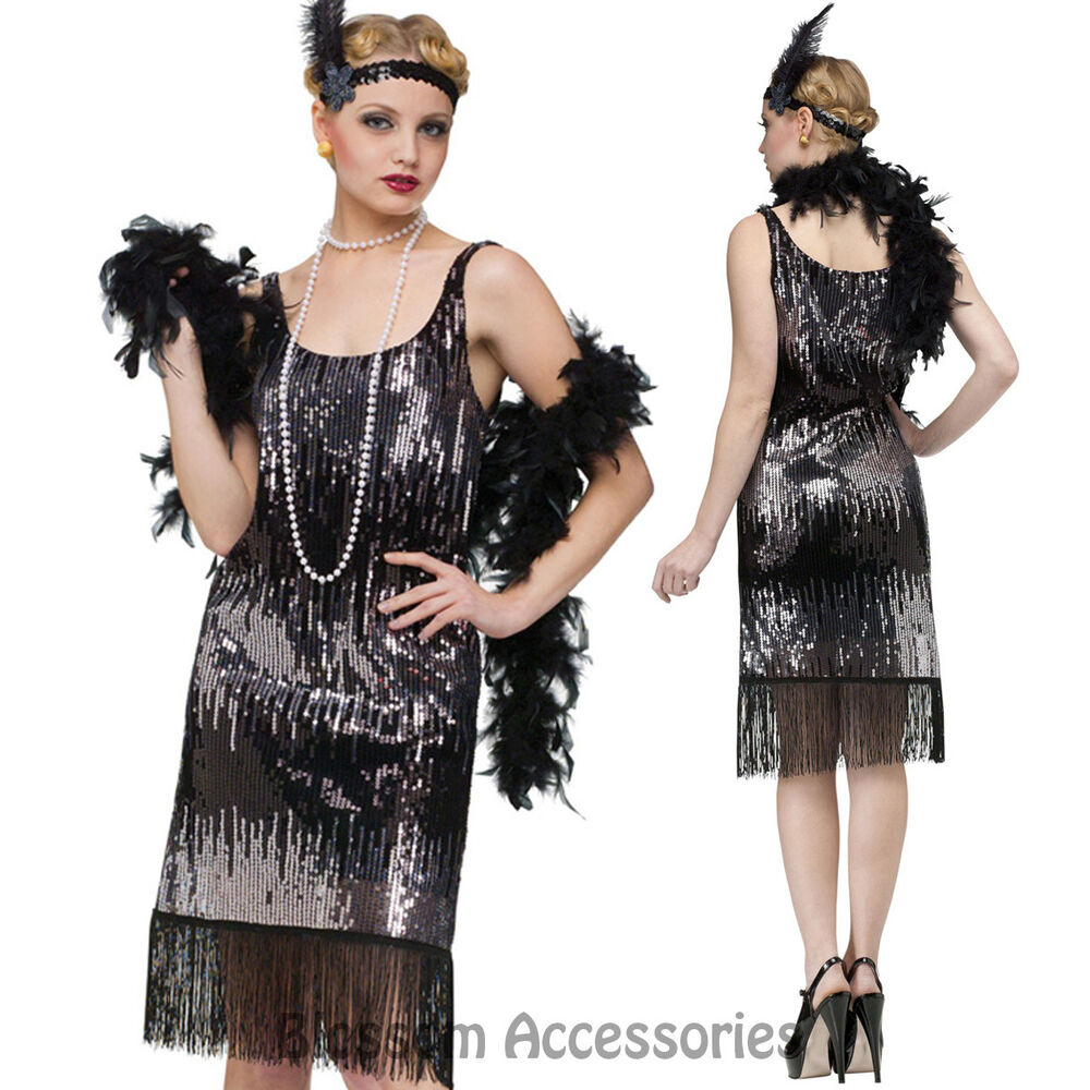 K70 Ladies 20s Flapper Gatsby Costume 1920s Charleston
