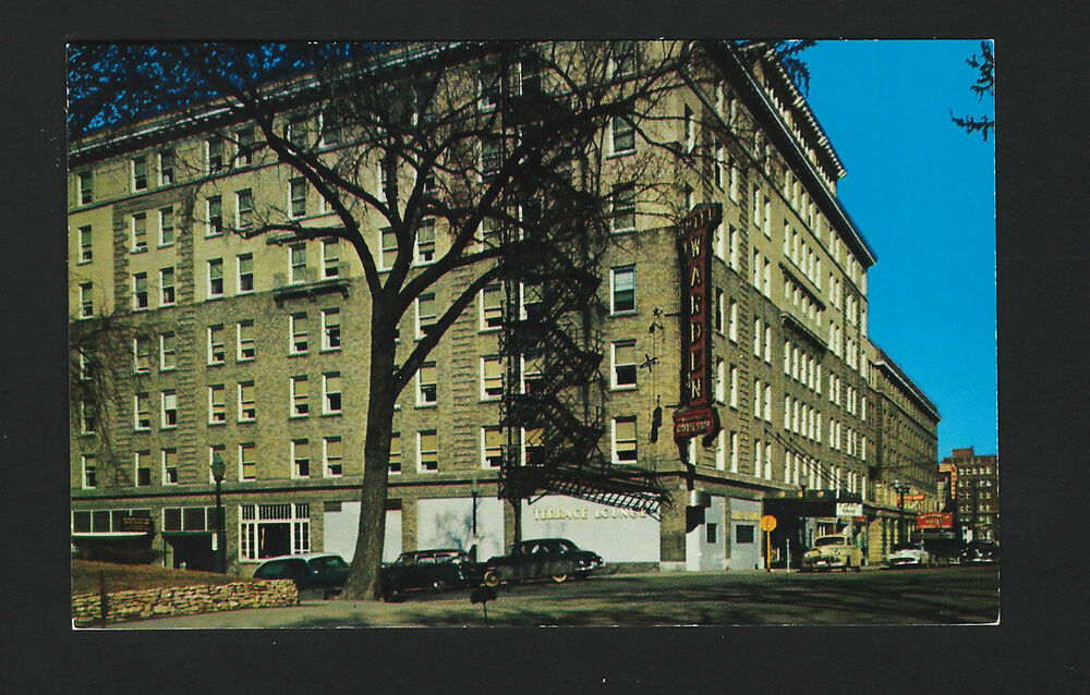 fort dodge iowa ia c1950 hotel warden in its hay day old. Black Bedroom Furniture Sets. Home Design Ideas