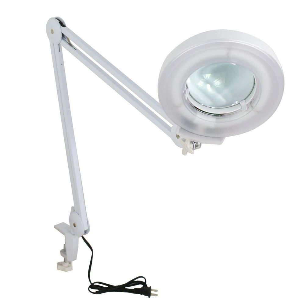 5x Magnification Clamp Lamp Magnifier Glass Diopter Facial ...