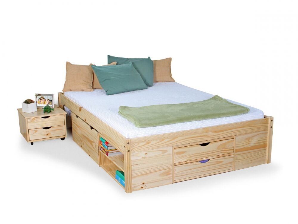 claas kinderbett funktionsbett jugendbett g stebett 140x200 cm kiefer natur ebay. Black Bedroom Furniture Sets. Home Design Ideas