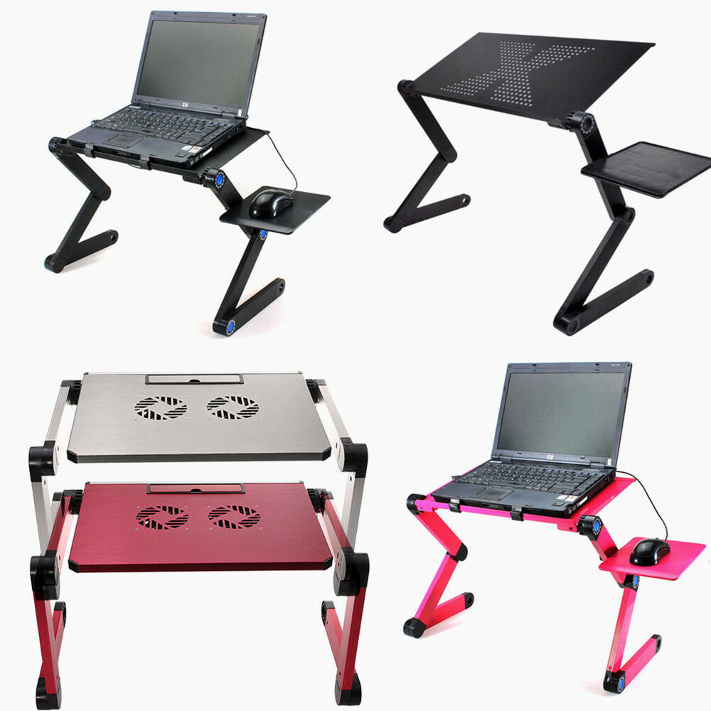 Portable Folding Laptop Computer Notebook Table Stand Desk Bed Sofa Tray Alu Hot Ebay
