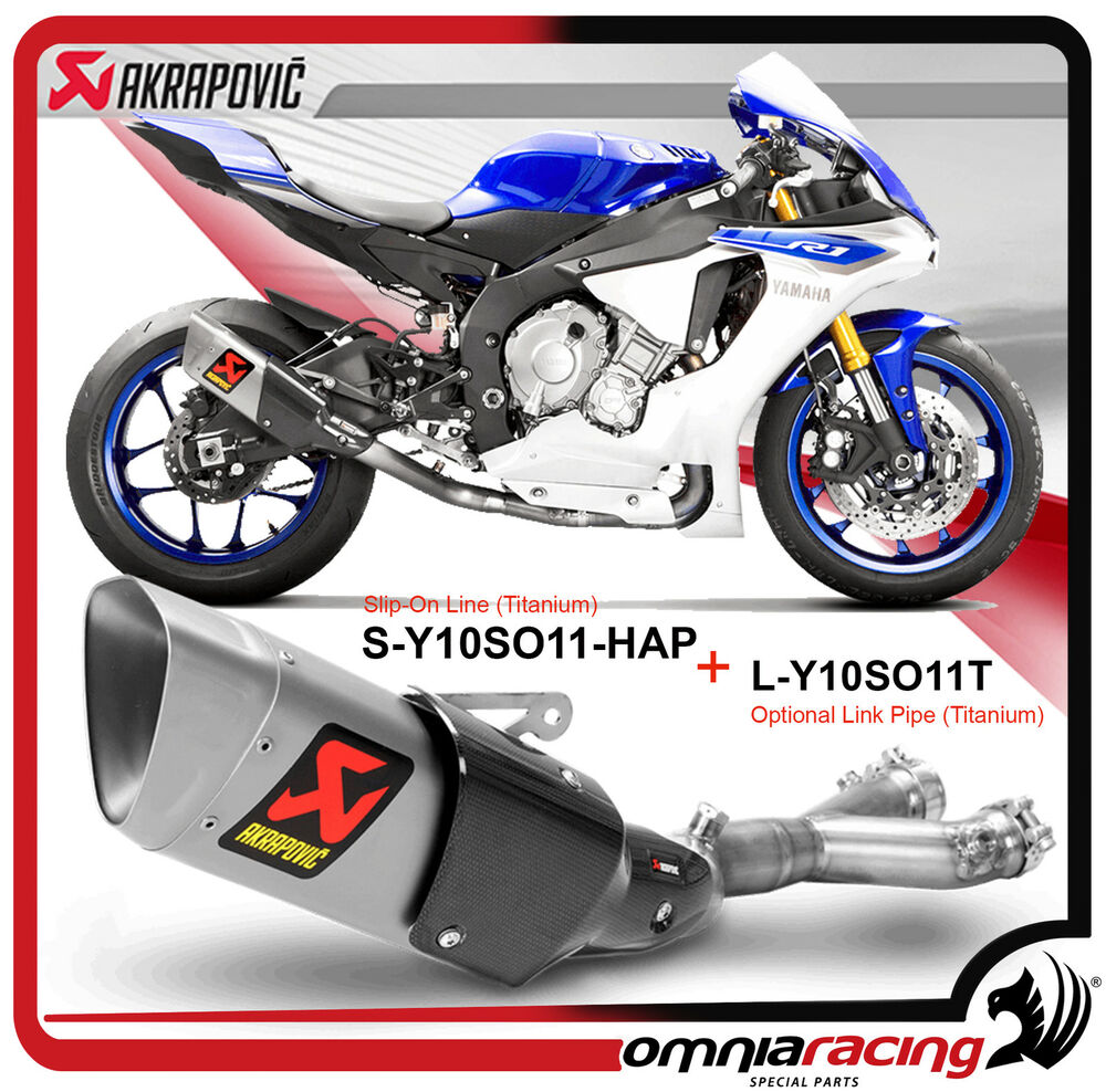 scarico akrapovic con elimina catalizzatore per yamaha r1. Black Bedroom Furniture Sets. Home Design Ideas