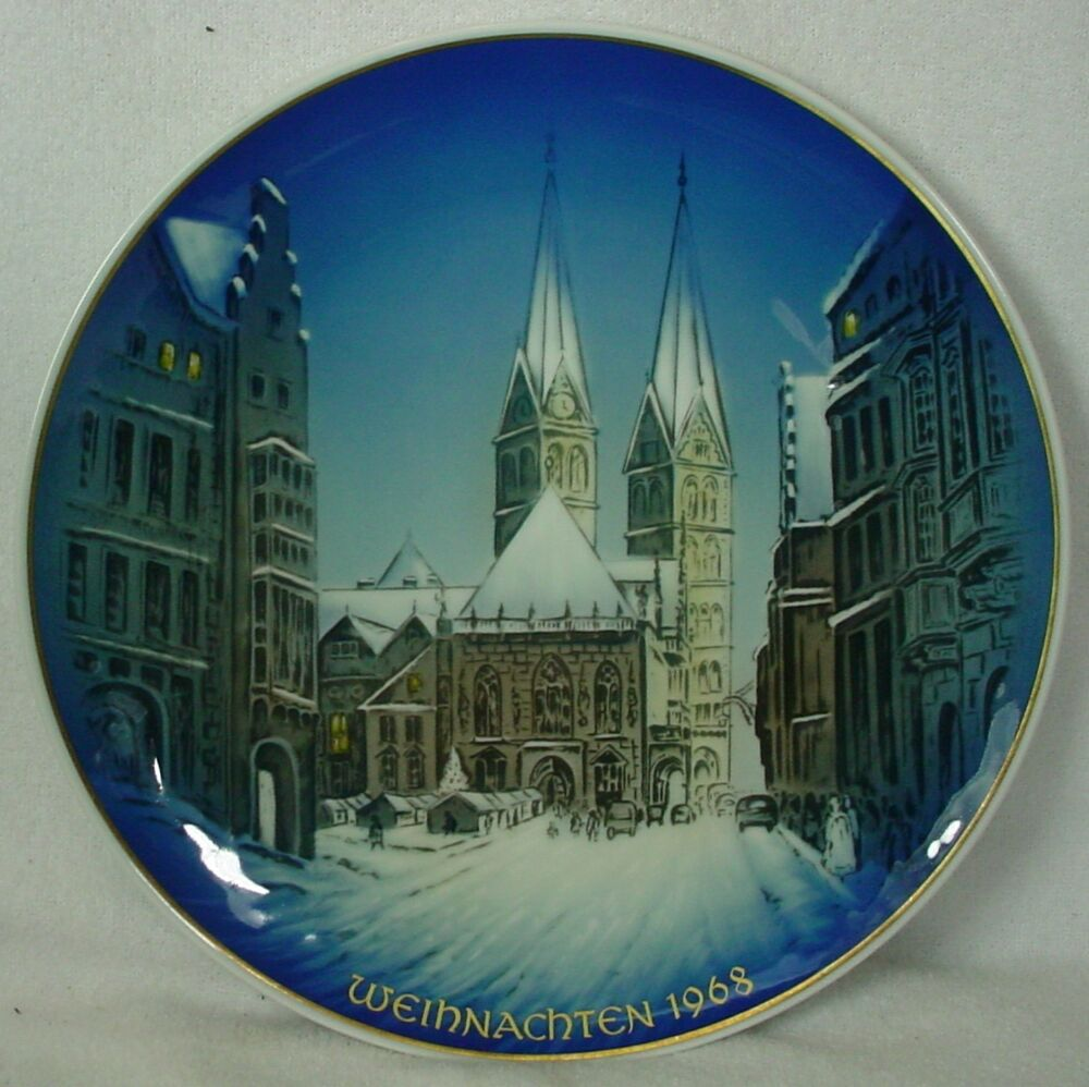 rosenthal china christmas plate weihnachten 1968 christmas. Black Bedroom Furniture Sets. Home Design Ideas