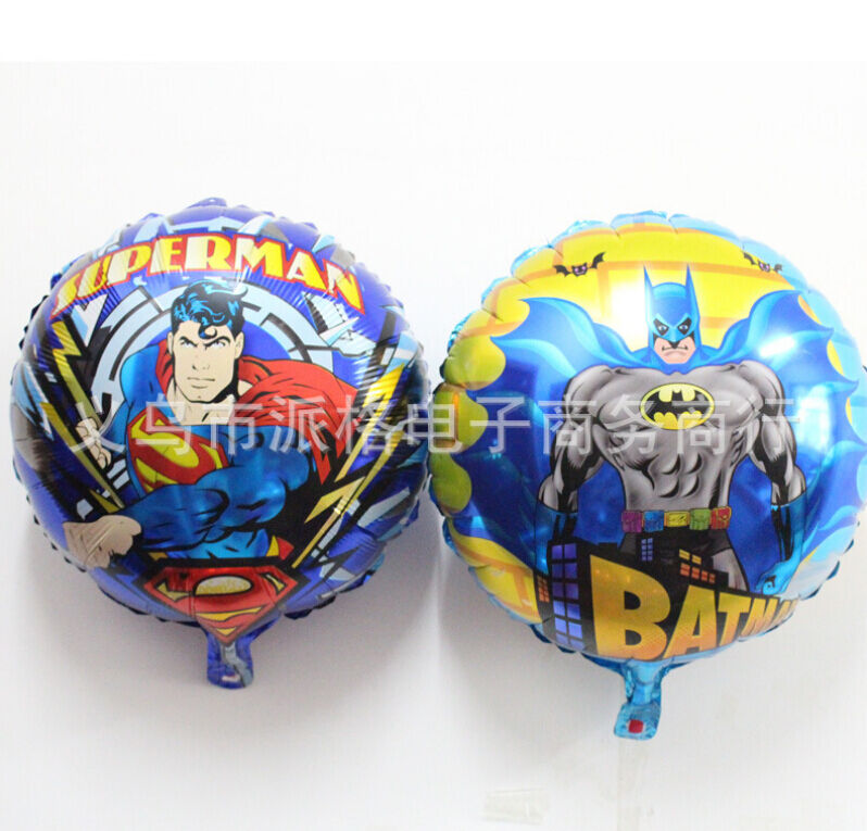Lot 50pcs superman batman birthday party decoration for Balloon decoration equipment