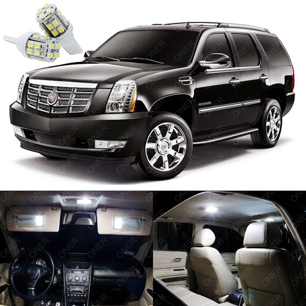 Used Cadillac Escalade Parts For Sale: 12 X Xenon White LED Interior Lights Package For Cadillac Escalade 2007 - 2014