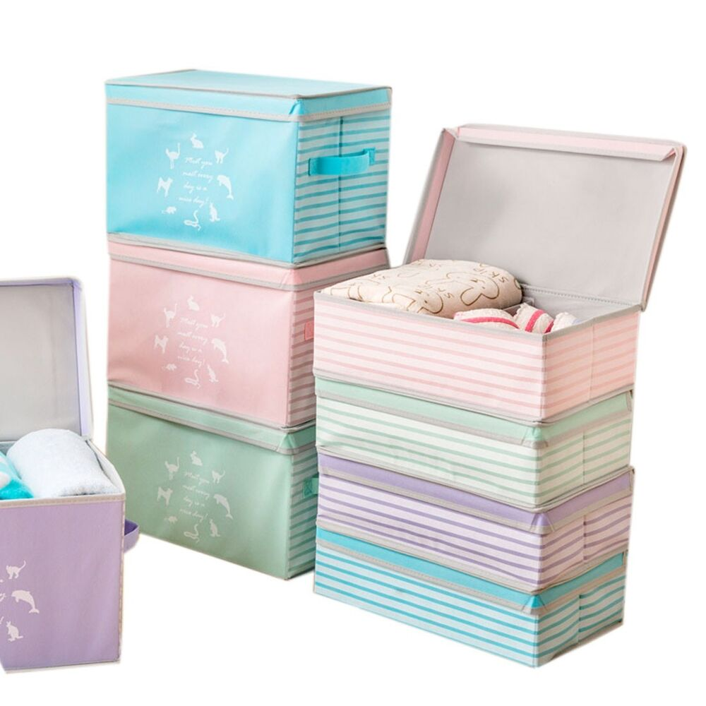 Cupboard Bin Lid Cover Clothes Organizer Container Dust