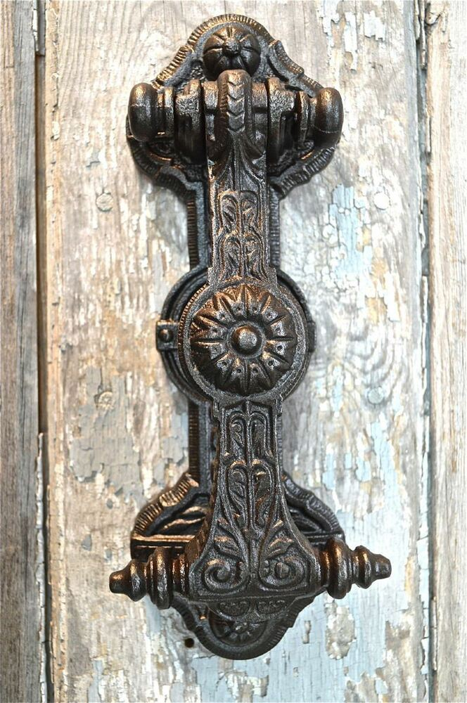 Superb solid cast iron gothic revival style door knocker wh22 ebay - Gothic door knockers ...