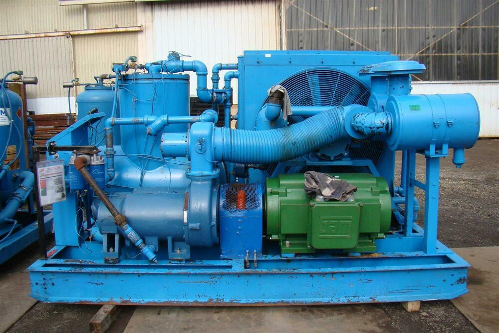 300hp Quincy Rotary Screw Air Compressor 460v 23 000hrs