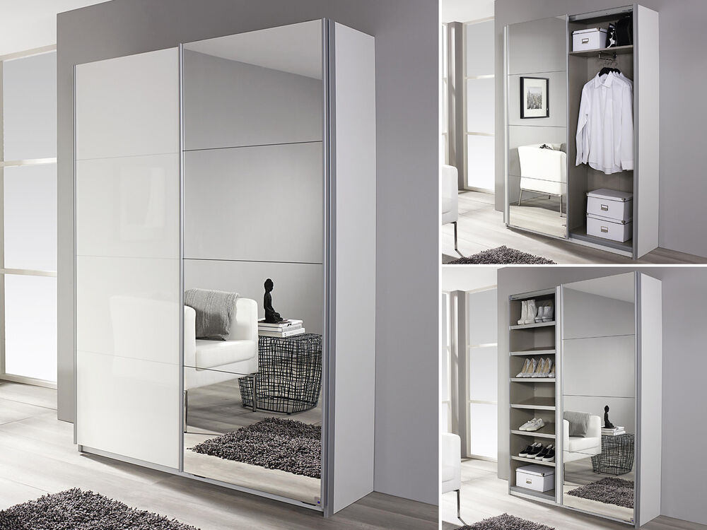 schuhschrank minosa garderobenschrank schrank wei hochglanz b 136 cm ebay. Black Bedroom Furniture Sets. Home Design Ideas