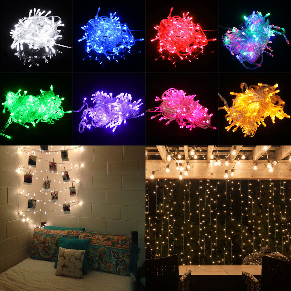 100 LED Multifunction Christmas Party Patio Window Fairy String Dorm Lights 32ft eBay