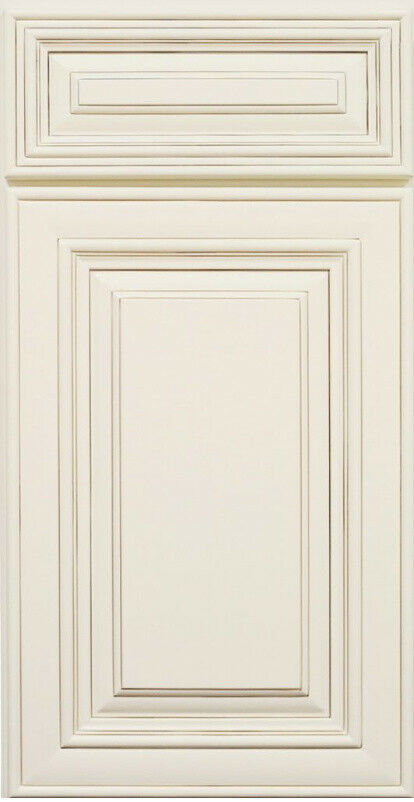 Antique white kitchen cabinet sample door maple all wood for Kitchen colors with white cabinets with candle holder ebay