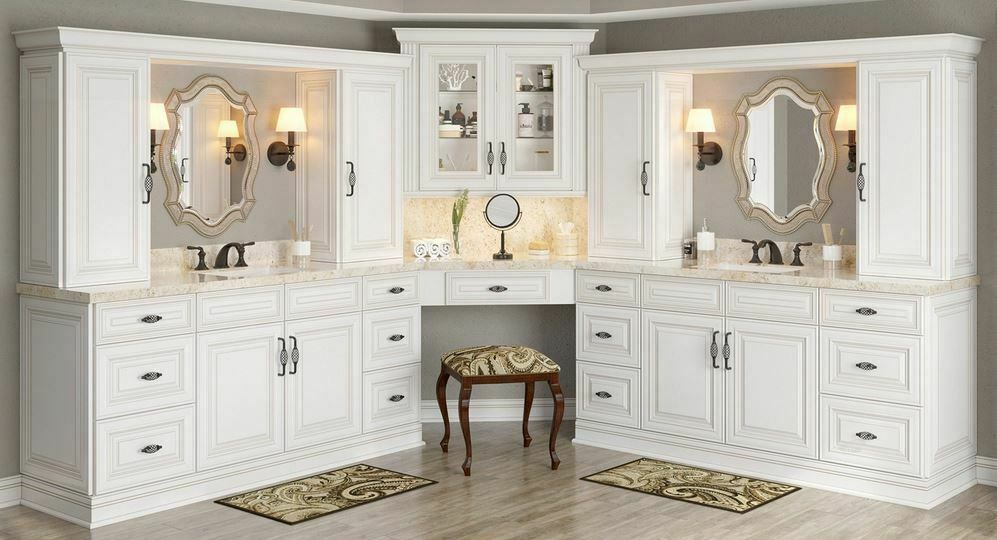 Antique White Kitchen Cabinets-Sample Door-RTA-All Wood