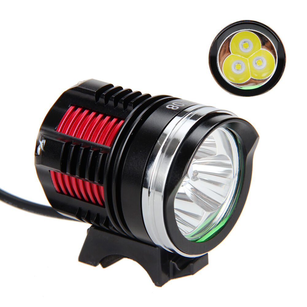 Lm cree xm l r led head front bicycle lamp bike