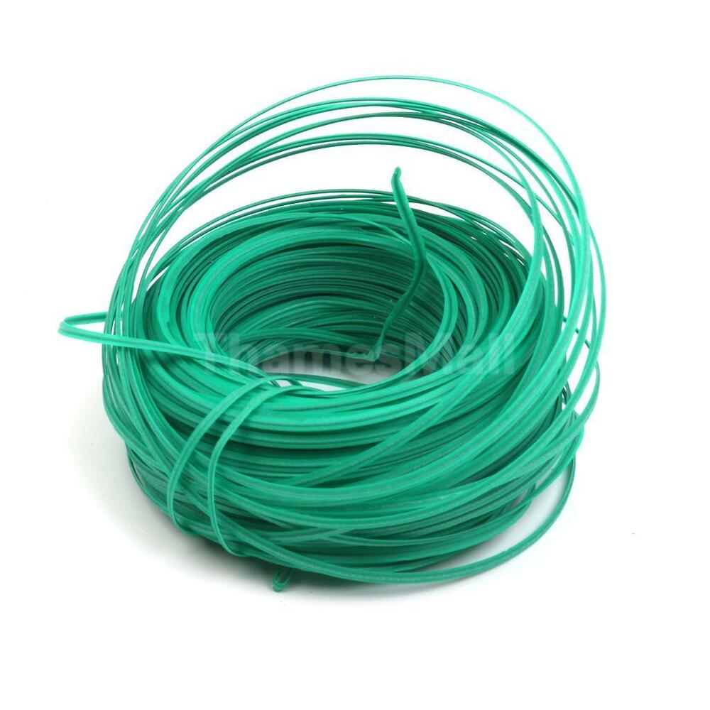 Cable Twist Tie : Meter green plastic twist tie wire spool with cutter for