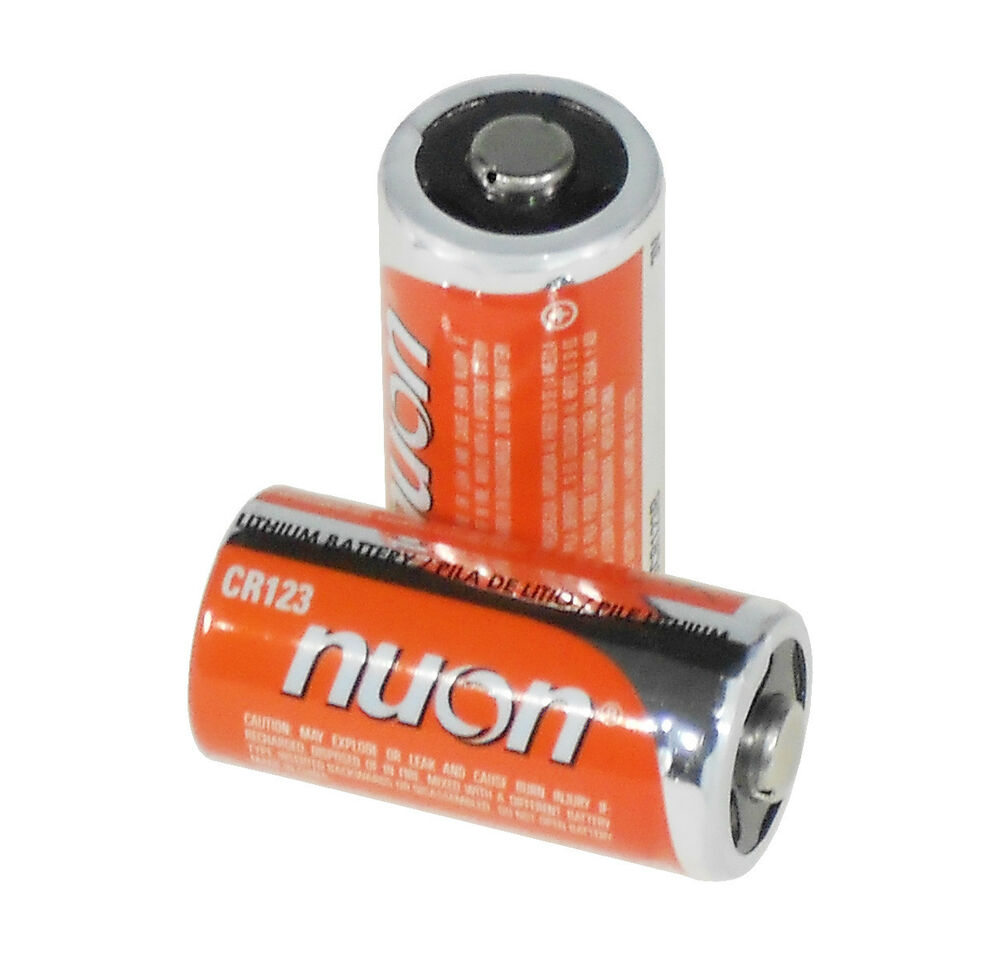 nuon nucr123b 3v lithium photo batteries size cr123a 2 pack ebay. Black Bedroom Furniture Sets. Home Design Ideas