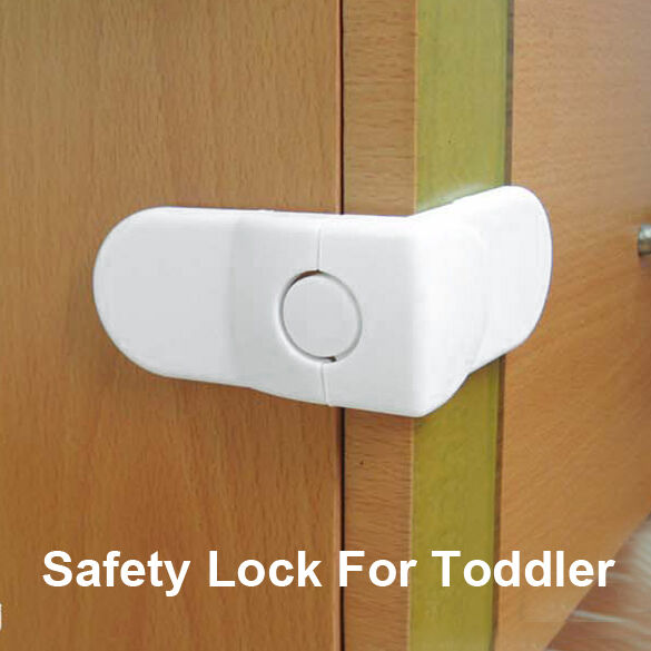 safety lock for child baby corner toddler wardrobe door cabinet drawer lock ebay