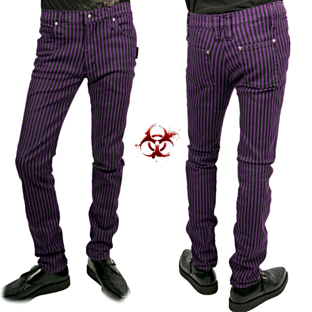tripp joker stripe rock gothic skinny slim jeans junkie. Black Bedroom Furniture Sets. Home Design Ideas