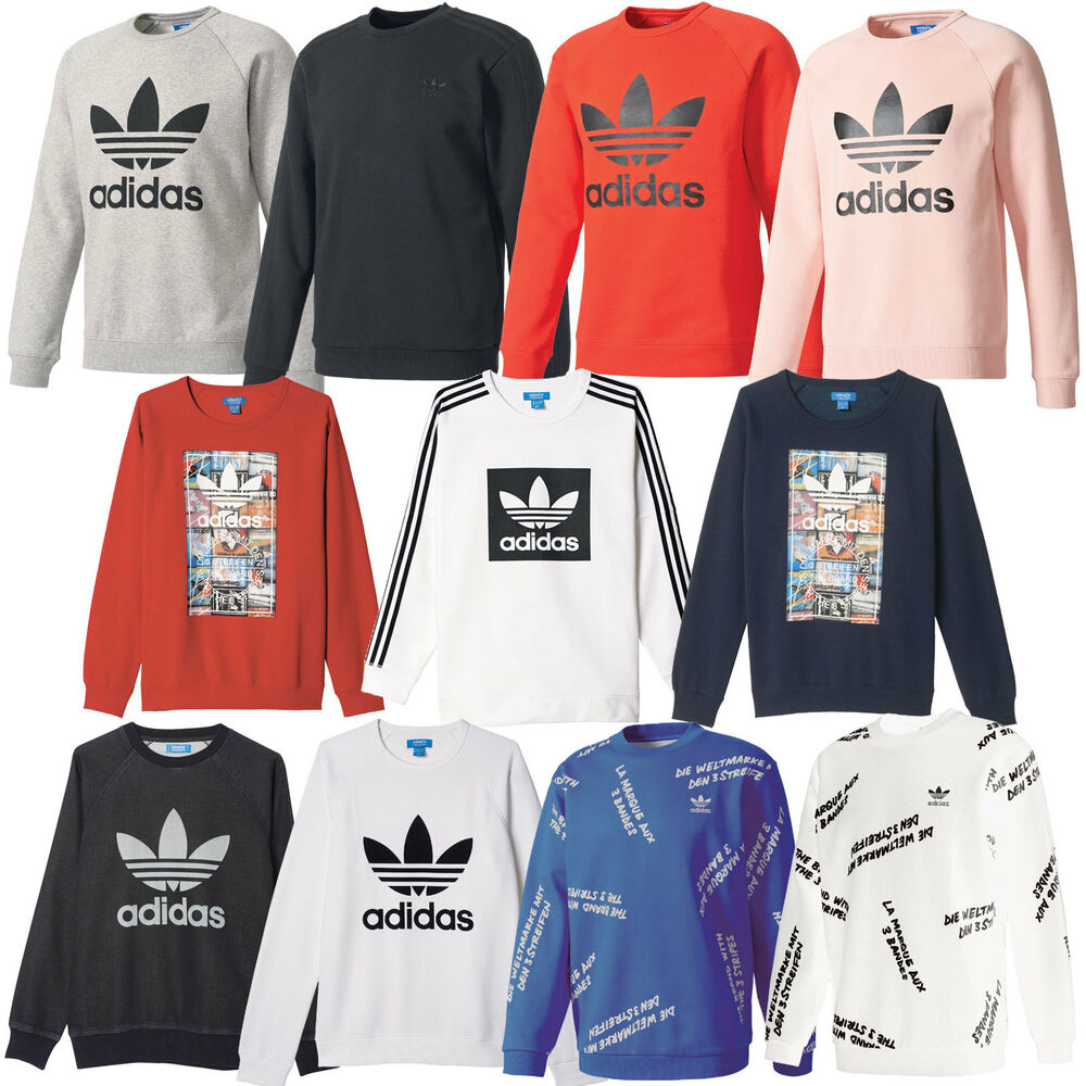 adidas originals sport crew herren sweatshirt pullover trefoil jumper sweater ebay. Black Bedroom Furniture Sets. Home Design Ideas