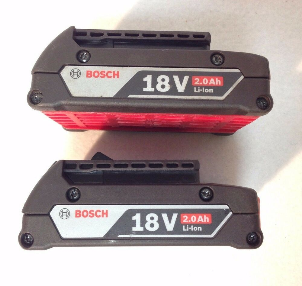 2 pack bosch bat612 18v 18 volt li ion newest 2 0ah battery slimpack recon ebay. Black Bedroom Furniture Sets. Home Design Ideas