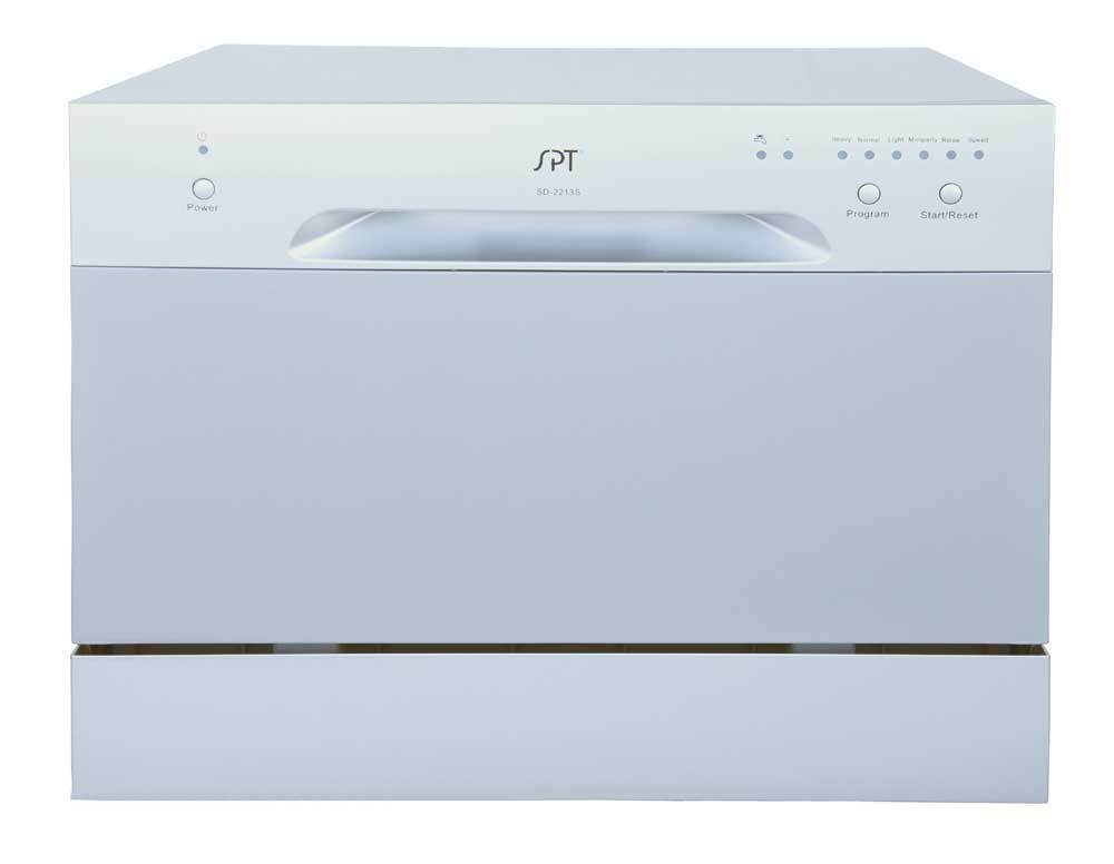 Countertop Dishwasher Small : Sunpentown Countertop Dishwasher Portable Compact Silver SD-2213S ...