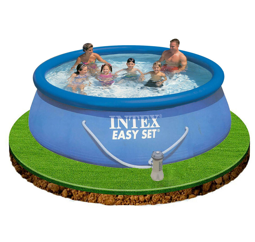 Intex 12ft x 30 easy set swimming pool with filter pump for Paddling pool heater