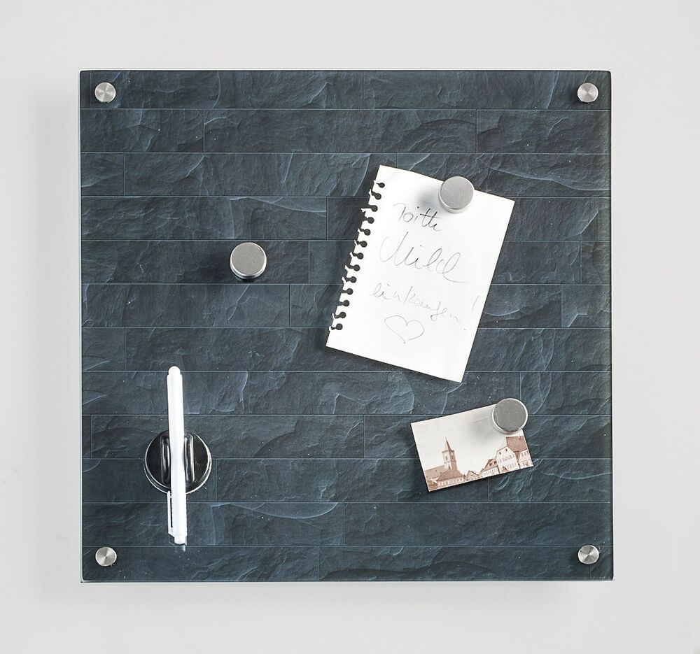 memobord glas memoboard stonwall magnettafel magnetwand pinboard magnetspiegel ebay. Black Bedroom Furniture Sets. Home Design Ideas